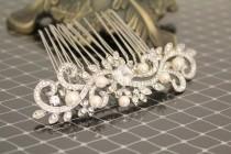wedding photo - Bridal hair accessories vintage Wedding hair comb pearl Bridal comb pearl Wedding hair accessory hairpiece Bridal Hair Jewelry Wedding Combs