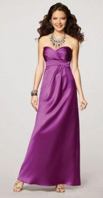 wedding photo - Alfred Angelo Strapless Satin Bridesmaid Gown 7132 - Brand Prom Dresses