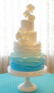 wedding photo - Ombre Ruffles And Orchids