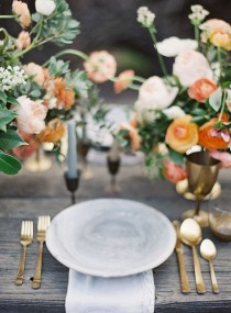 wedding photo - Orange & Grey Wedding Ideas