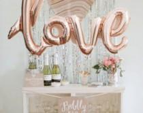 """wedding photo - LOVE Gold Mylar Balloons {Engagement Party, Engagement Pictures, Wedding} 40"""" Oversized Balloon"""