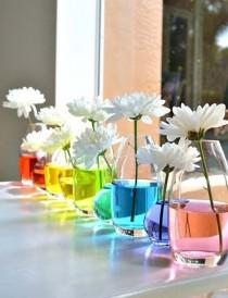 wedding photo - 21 Awesome Ideas Adding Rainbow Colors To Your Home Décor