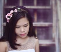 wedding photo - sakura headband,cherry blossom headband, made by polymner clay sweet girl