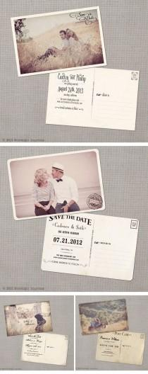 wedding photo - Nostalgic Imprints, Vintage-Hochzeitseinladungen, Vintage Wedding Invitations