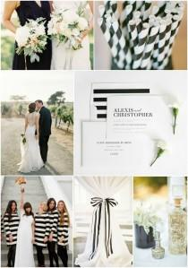 wedding photo - Black And White Striped Wedding Inspiration