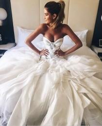 wedding photo - Fabulous Sweetheart Floor- Length Wedding Dress with White Lace