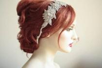 wedding photo - Wedding hair piece vintage inspired - Roza headpiece (Made to Order)