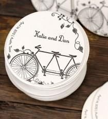 wedding photo - Custom Tandem Wedding Coasters 100-Pack