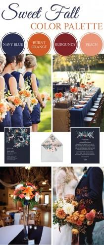 wedding photo - Sweet Fall Wedding Color Palette