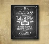 wedding photo - Printed PHOTO BOOTH Guestbook Wedding sign - chalkboard signage - 3 sizes available with optional add ons