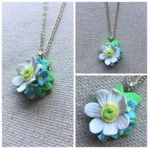 wedding photo - Flower necklace, daisy necklace, daisy flower, summer necklace
