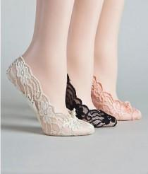 wedding photo - Might Do This, I Hate When Wedding Party Wears Flip Flops, So Not Classy. Love That They Are Cushioned. Super Adorable In Lace. Comfortable Shoes For A Reception. Plus They Are $6  @  Wedding-Day-Bliss