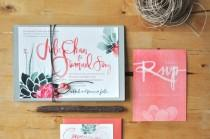 wedding photo - Calligraphy Wedding Invitation Designers: Julie Song Ink