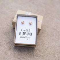 wedding photo - Knot Bridesmaid Earrings