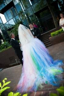wedding photo - Rainbow Wedding Dress