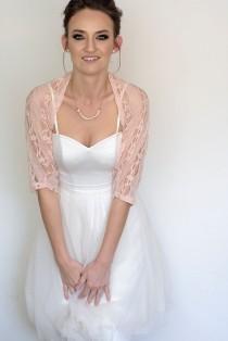 wedding photo - Blush wedding shawl, bridal cover up, light wedding, lace shrug, romantic wedding, summer wedding, floral wedding bolero,lace shawl cover up