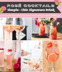 wedding photo - Easy Rosé Cocktails For Your Summer Wedding Signature Drink!