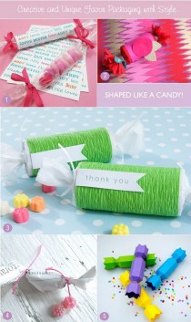 wedding photo - Homemade Favor Packaging: Making Candy Wraps