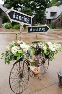 wedding photo - Chalky Finish Spring Centerpiece
