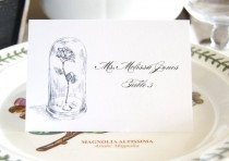wedding photo - Beauty And The Beast, Fairytale Wedding, Disney Place Cards Personalized With Guests Names (Sold In Sets Of 25 Cards)