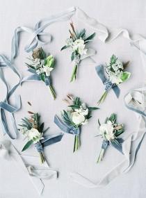 wedding photo - Winter Boutonnières