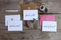 wedding photo - Set of 6 Bridesmaid Proposal Cards