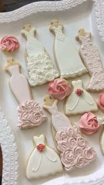 wedding photo - 12 Rosette Cookies In Flavor Vanilla
