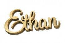 wedding photo - Gold Calligraphy Escort Card Names For Table Seating Arrangement, 3D