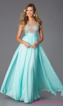 wedding photo - Floor Length Embellished Chiffon Prom Dress - Brand Prom Dresses
