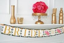 wedding photo - Kate Spade Inspired Bridal Shower Decoration - Bride To Be Banner - Bridal Shower Banner - Bachelorette Party - Kate Spade Decorations