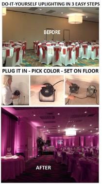 wedding photo - Rent Uplighting