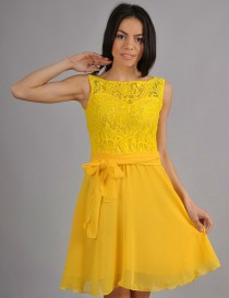 wedding photo - Yellow wedding.Yellow  woman dress, Autumn dress, wedding party, cocktail dress with a bow.