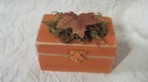 wedding photo - Rustic Fall Autumn Halloween Wedding Ring Bearer Pillow Alternative Ring Box