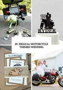 wedding photo - 20 Cool Motorcycle Themed Wedding Ideas - Weddingomania