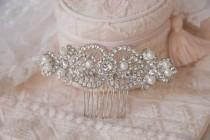 wedding photo - Pearl Crystal Bridal Hair Comb, Luxury Wedding Headpiece, Rhinestone Hair Comb, Vintage Style Hair Pieces, Gatsby, Wedding Jewelry