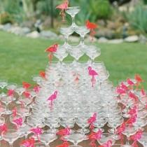 "wedding photo - Patricia Altschul On Instagram: ""@bravotv  What Could Be More Festive Than A Pink Flamingo Champagne Tower By @the.luke.wilson """