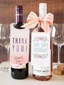 wedding photo - Check Out These FREE, Printable Wine Bottle Gift Tags!