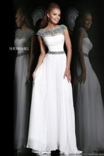 wedding photo - Sherri Hill 21272 Chiffon Cap Sleeve Prom Dress - Crazy Sale Bridal Dresses