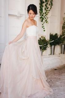 wedding photo - Peach Rustic Boho Wedding Inspiration