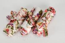 wedding photo - White Floral Satin Robe - Bridesmaid Gift, Wedding Favor - Monogrammable
