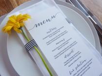 wedding photo - Wedding Menu - Printable - DIY Custom Wedding Decoration