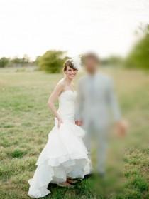 wedding photo - Klassische echte Brautkleid Satin trägerlos Mermaid mit Sweetheart Ausschnitt - Festliche Kleider