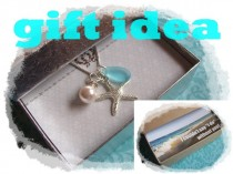 wedding photo - STARFISH NECKLACE - Bridesmaid STARFISH Necklace, Starfish Jewelry, Beach Wedding Jewelry, Starfish Gift,  Starfish Jewelry Necklace