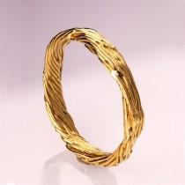 wedding photo - Twig Ring - 14K Gold Ring, wedding ring, wedding band, leaf ring, filigree, antique, art nouveau, vintage, mens ring, mens band, 5