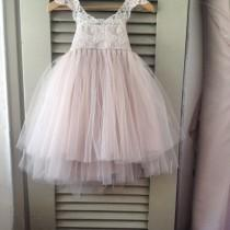 wedding photo - NEW LACES  Magic Orchid French lace and silk tulle dress for baby girl Flower girl dress blush princess dress tutu dress