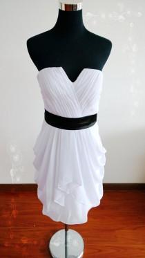 wedding photo - On Sale! White bridesmaid dress short bridesmaid dresses chiffon dress chiffon short bridesmaid dress short prom dress evening dress white