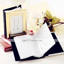 wedding photo - Beter Gifts® Recipient Gifts 50th Wedding Anniversary Mini Photo Album Favor / Place Card Holder Party Favors