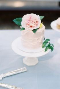 wedding photo - 30 Pale Pink Cakes So Pretty They'll Make You Blush