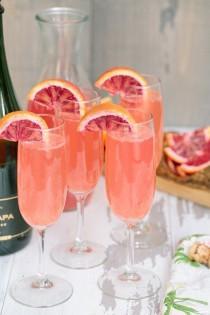 wedding photo - Lemonade Mimosas With Blood Orange