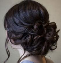 wedding photo - Beautiful Low Prom Updo Hairstyle With Loose Soft Curls – Long Hairstyle Galleries